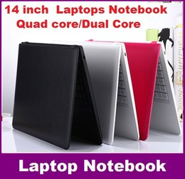 Wholesale Win Free Notebook Laptop - 14 inch Duar core laptop 2GB 500GB Win 8   win 10 Itel Celeron N3050 1.6GHZ N3150 Notebook Computer PC ultrabook X64 laptops FREE SHIPPING