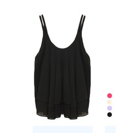 Wholesale Tank Top Summer Casual Dresses - S5Q Women Sexy Summer Loose Casual Sleeveless Shirt Chiffon Vest Tank Top Blouse AAAFIH