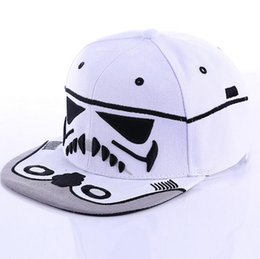 Wholesale Star Wars Europe - Kids baseball Hat 2016 New Arrival Europe and America Style Star Wars Children Hiphop Caps Fashion Boys Sun Hat 10pcs lot T1895
