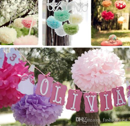 Wholesale Colorful Tissue Paper Flower Ball - Party Decoration Paper Flowers Tissue Paper Pom Poms Colorful Flower Balls Decorations Fashion Romance Sweet Illusion Pom Poms Festival Su