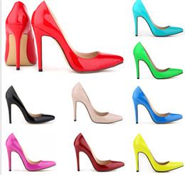 Wholesale Size35 High Heels - Hot Sale Size35-41 Comfortable Black Leather women shoes high heels pumps Women pumps women's shoes