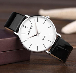 Wholesale thinnest waterproof mens watch - luxury Mens Watches Brand watches SINOBI Ultra-thin Case Men's Causal Quartz Business Watch Dress Watches Waterproof 490