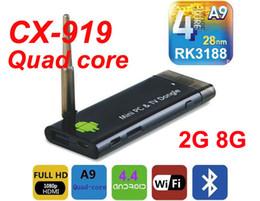 Wholesale Rk3188 Quad Core - New IPTV CX919 RK3188 Quad Core 1.6Ghz Android 4.4.2 Mini PC 2GB+8GB Android TV Box, Smart TV Box, Bluetooth 4.0, Strong Singal
