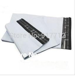 Wholesale Plastic Courier Bag Envelopes - Wholesale-20*34CM White Self-seal Mailbags Plastic Envelope Courier Destructive Postal Mailing Bags