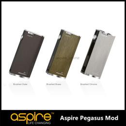 Wholesale upgraded stocks - IN STOCK Genuine Upgraded Edition Aspire Pegasus Mod 18650 Mods Mechanical Mod Aspire Pegasus 70W Temp Control Box Mods for Aspire Triton 2