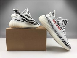 Wholesale Eva Letter - WHOLESALE KANYE WEST 350 BOOST V2 ZEBRA WHITE CORE BLACK RED DESIG LOWS INVERSED BACKWARDS LETTER SNEAKERS WOMEN SHOES