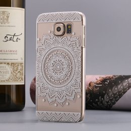 Wholesale Galaxy S4 Elephant Case - Flower Henna Elephant Mandala Sunflowe Clear Hard Case for Galaxy S6 S6 edge A3 A5 J1 S5 S4 S3 mini Alpha G850 case