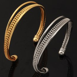 Wholesale High Quality Fashion Jewellery - Vintage Cuff Bangles For Men   Women 18K Gold Plated Cuff Bracelets High Quality Fashion Jewelry Jewellery Wholesale YH5147
