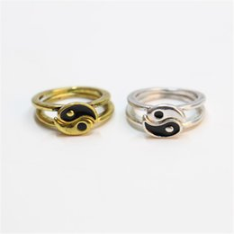 Wholesale Tai Gold - Popular Cluster Tai chi Rings Fashion Cluster Rings for Women Unique Tai Ji Rings New Arrival for Sale26