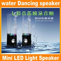 Wholesale Mini Speaker Notebook - Water dancing speakers water dancing water seven lights stereo speakers computer notebook mobile mini speaker JF-A4