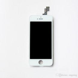 Canada Noir Blanc Écran LCD Écran Tactile Digitizer Full Assembly panels pour iPhone 5 5S 5C Remplacement Réparation Pièces Livraison gratuite cheap iphone 5c white panel Offre