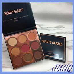 Beleza Glazed 9 Cores Shimmer Glitter Pressionado Em Pó Da Paleta Da Sombra de Borgonha Bronze Maquiagem Marca Cosméticos Sombras de Som Beleza Presente de