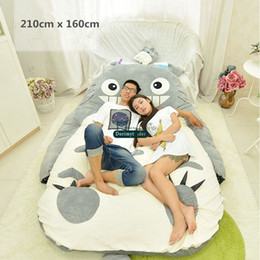 totoro figures Promo Codes - Dorimytrader quality pop anime totoro plush beanbag soft tatami sofa carpet mattress sleeping bag for Lover Kids gift decoration DY61851