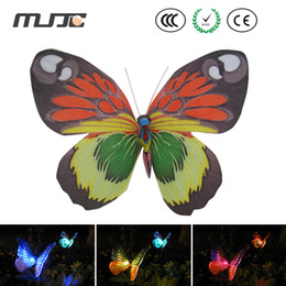 Wholesale Garden Solar Light Butterfly - Outdoor Solar Fiber Butterfly LED Lights Color Changing LED Solar Garden Lights for Garden Yard Decoration