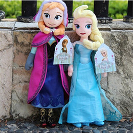 Wholesale Wholesale Plush Toys Great Quality - 10PCS LOT 40CM High quality The Movie elsa anna Plush Princess Elsa and Anna Plush Dolls Great Toys For Children birthday christmas gifts