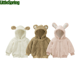 Wholesale Good Quality Girls Clothing - Wholesale-LittleSpring 2015 1pcs baby clothes cotton Velvet good quality baby girls and boys winter coat