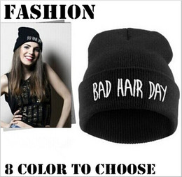 Wholesale Wholesale Beanies For Sale - new arrival Bad Hair Day Beanie hat caps winter hiphop caps Knitted hats for women men fashion skullies 8 colors top sale free shipp