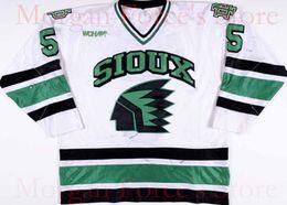 Wholesale Game Worn Jersey - Factory Outlet, University North Dakota Fighting Sioux Hockey Jersey 1997-99 #5 Jason Blake Game Worn Jersey Free Shiping XXS-6XL