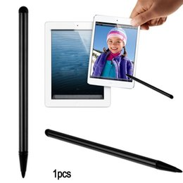 Wholesale Stylus Pen Pc - Dual Function Rubber End soft Touch Capacitive Pen Touch Screen Stylus Handwriting Pencil for Tablet iPad Cell Phone for Samsung PC