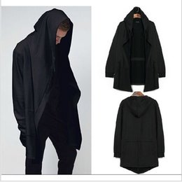 Wholesale Oversize Clothing - Original design men's clothing sweatshirt spring autumn hoodie men hood cardigan mantissas black cloak outerwear oversize free shipping new