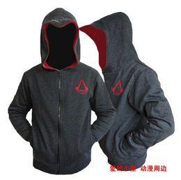 Wholesale Cardigan Jacket Assassins Creed - Free shipping 2017 2016 Autumn & Winter Fashion Casual Slim Cardigan Assassin Creed Hoodies Sweatshirt Outerwear Jackets Men.Brand