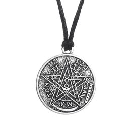 Wholesale Party Gram - antique silver Te Tra Gram Ma Ton star pendants wizard necklace