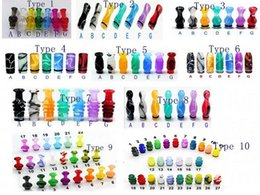 Wholesale E Cig Atomizer China - 20pcs Wholesale 510 drip tip acrylic plastic Drip tips for 6ml DCT china e cig e cigs e cigarette for RDA RBA atomizer