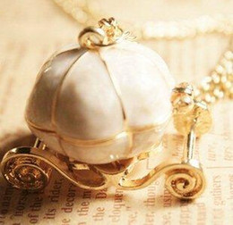 Wholesale Wholesale Cinderella Carriages - 7 style available ! New sweet Cinderella fairy tale pumpkin carriage alloy chains necklace sweater pendants Key chain 10pcs