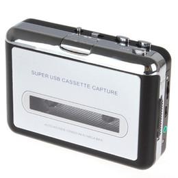 Wholesale Auto Real - 2015 Real Turntable Mini Dv Cassette Portable Usb Cassette Player Capture Recorder Converter Tape To Mp3 Auto Reverse Stereo Hi-fi Mega Bass
