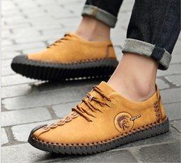 Zapatos planos cómodos de los hombres de la manera Superstar cordones  sólidos Slip de cuero genuino en los zapatos casuales de los hombres  Mocasines ... 8f6eac0f658