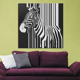 Wholesale Zebra Print Wall Decor - Decorative Painting Wall Art Canvas Prints Zebra Animal Wall Pictures for Living Room Home Decor no Framed