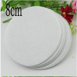 Wholesale Round Felt Circles - 5%off white color quality 8cm large circle felt pads for flower round felt patches DIY fake fabric flower flatback accessories 300pcs lot