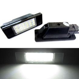 Wholesale Number Plate Lights - LED Number License plate light for Peugeot 207 308 Citroen Berlingo C2 C3 Pluriel Baujahr 2004 - 2009 C4 C5 Limousine C6 DS3