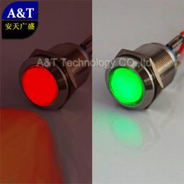 Botão interruptor ip67 on-line-Dual Led Cor 12 V 24 V Olho de águia Vermelho Verde iluminado Veículo Carro Automotivo Lacthing ON OFF Botão Interruptor IP67 À Prova D 'Água