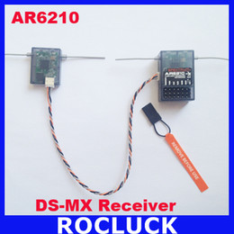 Wholesale Wholesale Satellite - Spektrum AR6210 DSMX Receiver 2.4Ghz 6CH Receiver with Satellite Free Shipping