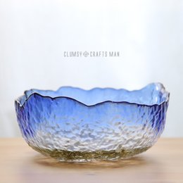 Wholesale Eco Friendly Shipping Materials - Glass salad bowl Transparent Environmental protection Glass material trays Fruit candy Dishes Plates Kitchen ware wholesale free shipping