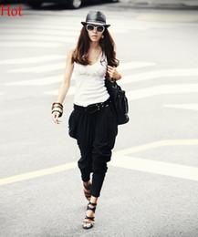 Wholesale Korean Women Sweatpants - Women Pants 2015 Harem Pants Woman Korean Pants Casual Sweatpants Loose Street Trousers Women Hip Hop Pant Leisure Spring Capris Black 14793