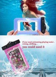 Wholesale Lg G2 Cell Phone - Under 6 inch cell phone seal Waterproof Bag Pouch Underwater Back Cover Case For iPhone 6 5 5s 4 4s for lg g2 Galaxy galaxy