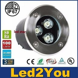 Wholesale 85 Sale - Hot Sale IP67 9W LED Underground Lamp Buried Inground Light 2 Years Warranty Outdoor Garden Using AC 85-265V CE ROHS UL CSA
