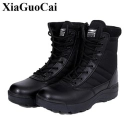 Wholesale Desert Special Combat Boots - Big Size 46 Winter autumn Brand Men Military Leather Boots Special Forces Tactical Desert Combat Boats Outdoor Shoes Snow Boots