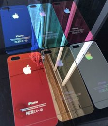 Wholesale Scratch Shatterproof Protector For Iphone - Colorful Tempered Glass Screen protector Mirror Tempered Glass Film Anti-Scratch shatterproof For iphone 5 5S iphone 6 iphone 6 Plus