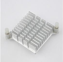 Puces informatiques en Ligne-Gros-5 pcs / lot LED IC Silver dissipateur de chaleur pour puce CPU Ordinateur North Bridge refroidisseurs refroidissement en aluminium Radiateur Radiateur 40x40x13mm