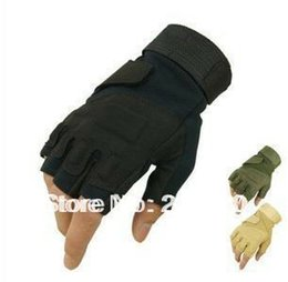 Wholesale Hell Free - Wholesale-Free shipping hot sale Hell Storm Tactical Half Finger  fingerless Gloves Motobike Motorcycle bike Sports Gloves