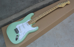 Wholesale Guitar Chinese - Alder Body *** Special Edition 60s Stratocaster Lacquer Daphne Maple Fingerboard Electric Guitar Green High Quality Chinese Strat Guitar