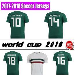Wholesale g r - Thailand Camisa Mexico soccer jersey 2018 CHICHARITO R MARQUEZ G DOS SANTOS O PERALTA world cup football shirt jersey camisetas de futbol