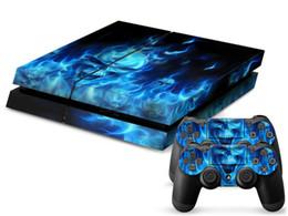Argentina 1 Unids Calavera PS4 Pegatina de alta calidad 1 Consola de piel y 2 Controladores Pegatina de piel Para PS4 shiping libre Suministro