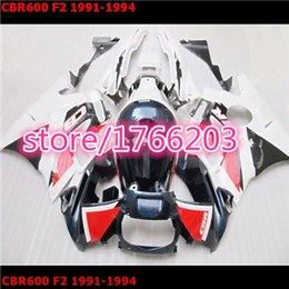 Wholesale Honda Cbrf2 - Wholesale - high quality red white black body for HONDA CBR600 F2 91 94 CBR600F2 CBR 600 CBRF2 91-94 1991 1992 1994 ABS bodywork