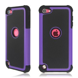 Wholesale Iphone 4s Armor - Hybrid Rugged Impact 3 in 1 Shockproof Heavy Duty Armor Hard Case for iPhone 4 4S 5 5S 5C iPod Touch 4 5 Touch4 Touch5
