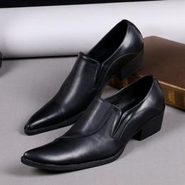 Vestito dalla corea che spedice liberamente online-Scarpe da uomo in vera pelle Scarpe da uomo nere con punta a punta nera Scarpe da lavoro Scarpe da uomo Scarpe da uomo stile coreana Scarpe da spedizione gratuite