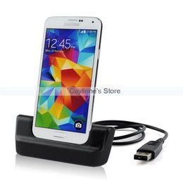 Wholesale Dual Charging Cradle Galaxy - Dual Battery Charging Dock Charger Cradle Station For Samsung Galaxy S5 i9600 HK w  Tracking order<$18no track